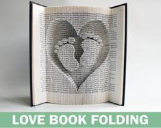 Book Folding Pattern Fish: Book Folding di LoveBookFolding su Etsy