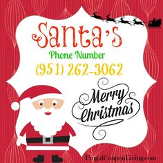 Santa's Phone Number | Call Santa for FREE - Pin It! This is awesome!!!! Santa actually talks to you!!