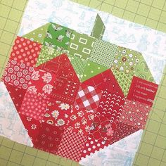 Bee In My Bonnet: Seams Sew Easy is Here and Farm Girl Friday Week 18 - YeeHaw!!! ~ Scrappy Strawberry Quilt Block