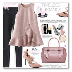 """""""Work  Wear (ruffle dress)"""" by jecakns ❤ liked on Polyvore featuring Whiteley, Burberry, Chanel and Bulgari"""