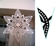 Paper snowflake cutting PATTERN