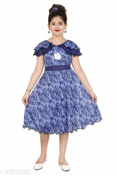 Checkout this latest Frocks & Dresses Product Name: *New stylish Girls  Frocks & Dresses* Fabric: Cotton Blend Sleeve Length: Short Sleeves Pattern: Printed Multipack: Single Sizes: 2-3 Years (Bust Size: 17 in)  3-4 Years (Bust Size: 18 in)  4-5 Years (Bust Size: 18.5 in)  5-6 Years (Bust Size: 20 in)  6-7 Years (Bust Size: 22 in)  7-8 Years (Bust Size: 24 in)  8-9 Years (Bust Size: 26 in)  9-10 Years (Bust Size: 28 in)  Country of Origin: India Easy Returns Available In Case Of Any Issue   Catalog Rating: ★3.9 (987)  Catalog Name: Flawsome Classy Girls Frocks & Dresses CatalogID_4629454 C62-SC1141 Code: 562-21833955-999