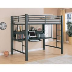 Coaster Premium Full Workstation Loft in Grey
