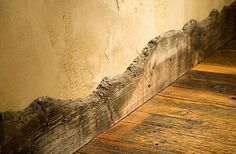 reclaimed wood baseboards