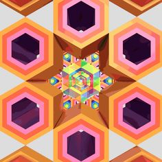 Dazzling animations make the hexagon a psychedelic experience   tumblr blog Hexeosis