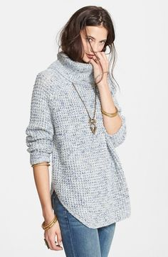 Free shipping and returns on Free People Turtleneck Pullover at Nordstrom.com. Hints of wool and linen soften a slouchy turtleneck sweater finished with ribbed cuffs and a prominently rounded hemline.