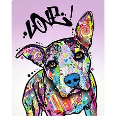 Dean Russo Pit Bull Love Pop Art Wall Decal by RetroPlanetUSA, $9.99