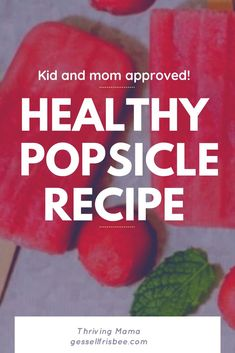 Make these easy and healthy watermelon popsicles this summer for a yummy frozen dessert or snack! Made with fresh fruit, these popsicles are kid and mom approved! Healthy Baby Food, Healthy Meals For Kids, Dinner Recipes For Kids, Kids Meals, Healthy Snacks, Healthy Popsicle Recipes, Baby Food Recipes, Whole Food Recipes, Yummy Recipes