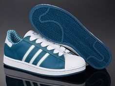 Adidas Superstar Shoes Blue White