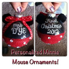 minnie mouse christmas ornament - Google Search