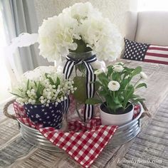 Fourth of July decorations ideas to DIY this Patriotic Day - Hike n Awesome Fourth of July decorations ideas to DIY this Patriotic Day - Hike n Dip Silk Baby Breath - Burgundy - Fourth Of July Decor, 4th Of July Celebration, 4th Of July Decorations, 4th Of July Party, July 4th, Christmas Decorations, July Crafts, Holiday Crafts, Holiday Fun