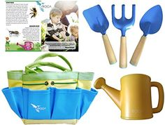 Gardening Tools for Kids and Beach Toys by ROCA Home. Outdoor Toys and Learning Toys. Cute Garden Bag or Beach Bag and Early Learning Guide. * Find out more about the great product at the image link. Childrens Gardening Tools, Kids Gardening Set, Organic Gardening, Stem Learning, Learning Toys, Early Learning, Garden Tool Shed, Garden Tool Storage, Home Vegetable Garden