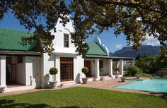 Original old Cape Dutch historic house, Cape Town, South Africa.
