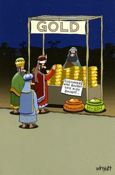 Funny Christmas Cartoons, Funny Christmas Pictures, Christmas Jokes, Funny Christmas Cards, Funny Cartoons, Xmas Jokes, Bible Humor, Three Wise Men, Christian Humor