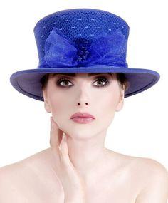 Electric Cobalt Blue Couture Hat SOUS LE CIEL DU LONGCHAMP by Lallu Chic Couture Millinery #hats #millinery #couturemillinery #lalluchic #haniabulczynska #kapelusz #modystka