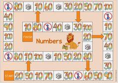 Ideenreise: Spielfeld zu den englischen Zehnerzahlen Number Games Preschool, Preschool Activities, German Language Learning, Teaching English, Autism Education, German Grammar, English Games, Languages Online, Learn German