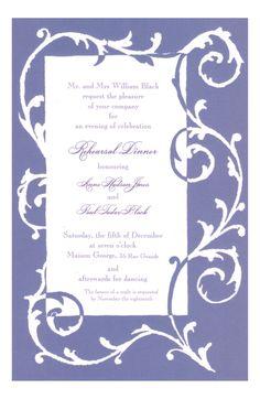 Vine Purple Invitation from Odd Balls