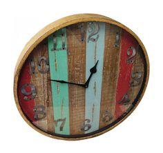 Timberland Wood and Metal Wall Clock