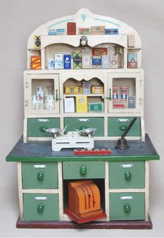 Vintage pharmacy for kids - my kid's SO going to have one of these!