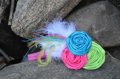 Spring headband Hot Pink headband Children's headband by nicilyn, $14.25