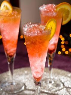 A flavorful, colorful and classy cocktail for Christmas or New Year's Eve. Get the recipe on HGTV.com.