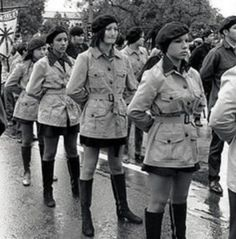 Women Of The Brown Berets. Like the #BlackPantherParty, #BrownBerets created community projects in their struggle for self-determination & social justice. They supported United Farm Workers movement & Land Grant Movement in New Mexico & participated in the first Rainbow Coalition with Black Panther Party, Young Patriots (white anti-racist organization), & the Young Lords (Puerto Ricans), & in the Poor Peoples Campaign.  All Power To All The People! #BobbySeale http://bobbyseale.com/