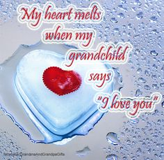 """An, """"I love you"""" from a Grandchild makes it worth having aged. *I live for my 2 wonderful Grandsons and also my beautiful Daughter. To me, my kids are EVERYTHING!"""