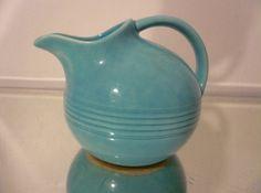 Vintage Fiesta mini ball pitcher in turquoise. eBay