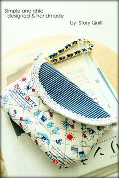 zipper bag, Japanese zakka style, Hello Kitty ^v^   DIY digital PDF Sewing Pattern - Bag / purse Sewing Pattern, Sewing  Pattern, Handbag Sewing Pattern, tote bag, tutorial, wristlet tutorial, pattern pile, pile of pattern, free tutorial