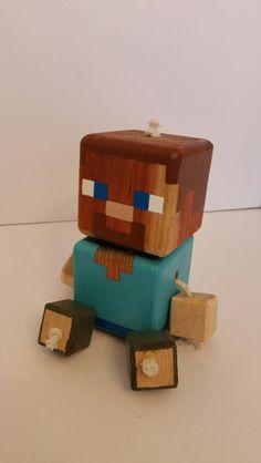 Steve - wood toy, natural wood, wood robot, DIY toy #woodtoy