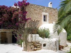 Authentic Ibiza Indy Ibiza, born on Ibiza Ibiza Formentera, Menorca, Jungle House, Mediterranean Garden, Mediterranean Architecture, Adobe House, Balearic Islands, Stone Houses, Spain And Portugal