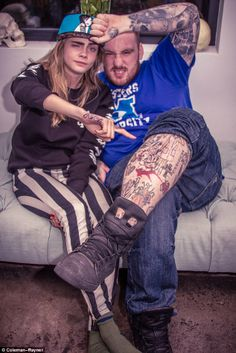 In honor of Tattoo Tuesday, we would like to S/O Cara Delevingne and Bang Bang NYC for repping our TKDK CMYK Baby Hat!