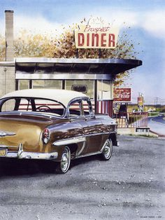 Prospect Diner Painting by Denny Bond - Prospect Diner Fine Art Prints and Posters for Sale