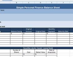 Balance Sheet Booklet Digital Template  Balance Sheet Adobe