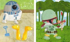 Baby Star Wars Illustration Set