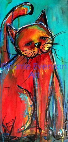 Cat painting  www.karrieevensonart.com