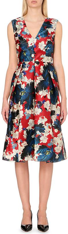 Erdem Floral-Print Silk Dress - for Women
