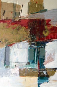 Upward Thrust - Nell C. Tilton.....mixed media on canvas.