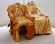 Carved wooden clothes Chairs
