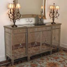 Storage Furniture   Exclesior Mirrored Buffet Server   Exclesior Mirrored Buffet  Servers   Shades Of Light