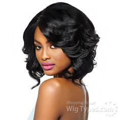 Outre Synthetic L-Part Swiss Lace Front Wig - KERI (futura) [11718]