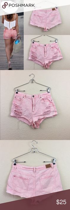 Urban outfitters BDG pink cut off shorts Urban outfitters BDG cut off distressed cheeky shorts no damages size 31 Urban Outfitters Shorts Jean Shorts