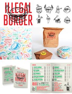 Illegal Burger. A different version than previous pins on fab burger #packaging #branding PD