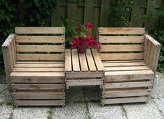 palettenmöbel für den garten pflanzen innovative ideen