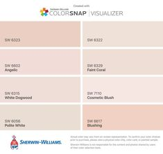 Blush Pink Paint, Light Pink Paint, Pink Paint Colors, Paint Colors For Home, Grey Paint, Wall Colors, House Colors, Pale Pink, Sherwin Williams Gray
