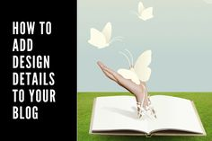 What can you do to add more design details to your blog?