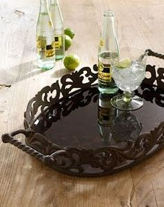 Shop Oval Tray from GG Collection at Horchow, where you'll find new lower shipping on hundreds of home furnishings and gifts. Dining Ware, Metal Dining Table, Kitchen Items, Kitchen Decor, Tuscany Decor, Tuscan Decorating, Decorating Ideas, Kitchen Collection, Tuscan Style
