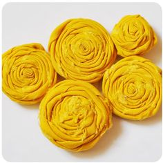 How to Make No Sew Rolled Fabric Flowers