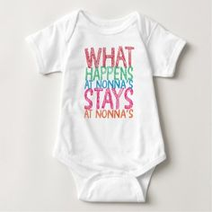 #What happens at Nonna's stays at Nonna's Baby Bodysuit