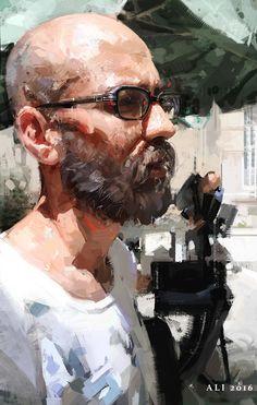 ArtStation - Portrait of a friend. , Ali Kiani Amin